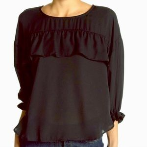 Halogen Split Hem ruffle top (NWOT)